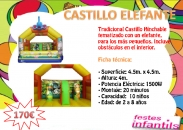 Castell Inflable Elefante Zoo